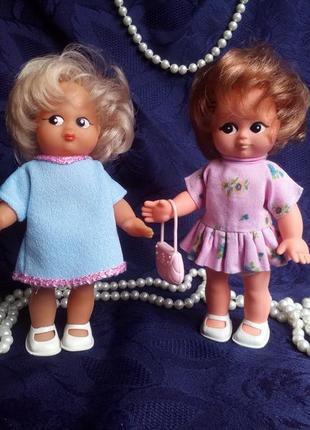 Elsterwerda veb puppenfabrik пара кукол гдр рыбки германия винтаж лот нарисованные глаза