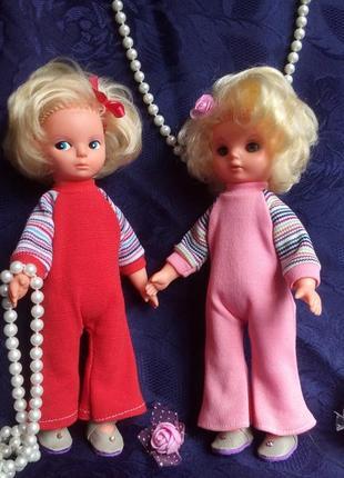 Пара кукол гдр elsterwerda veb puppenfabrik 70-е германия винтаж в одежде