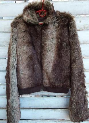 Англия.шубка, куртка из искусственного меха короткая