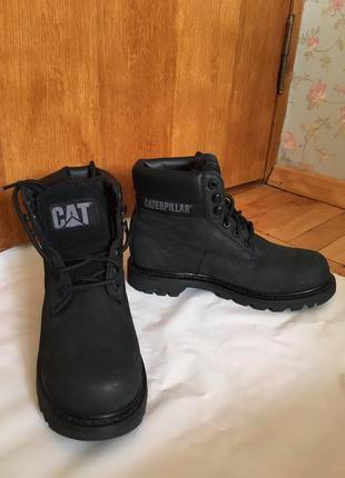 Чоловічі зимові шкіряні чоботи caterpillar 38 розмір
