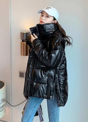 Стильная зимняя куртка оверсайз в стиле zara