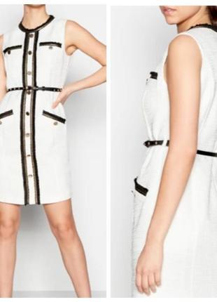 Твидовое белое платье debenhams
