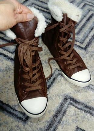 Converse зимние кеды ботинки