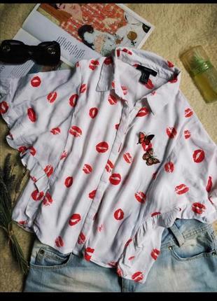 Блузочка блуза рубашка топ укороченная