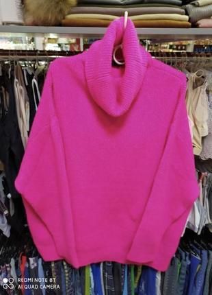 Dilvin платье свитер розовое
