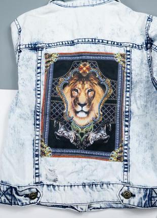 Джинсовый пиджак р-р xs