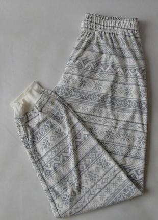 Пижамные штаны плюш-велюр primark м 12-14