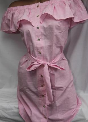 Нежно- розовое летнее платье