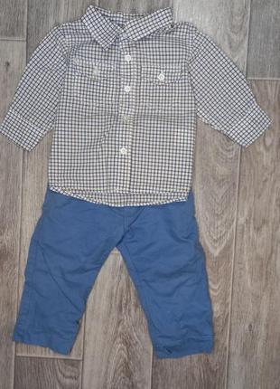 Брючки и рубашка на малыша