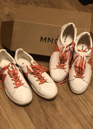 Білі кросівки mango