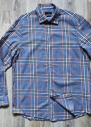 Мужская рубашка в клетку zara man regular fit