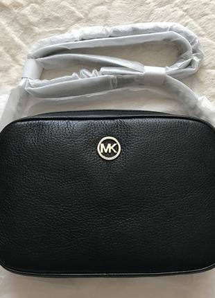 Новая черная сумка кросс боди michael kors black оригинал