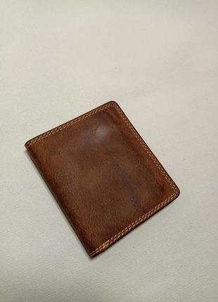 Кожаный кошелек бумажник портмоне. crazy horse