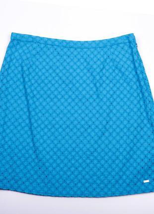 Перфорированная юбка миди
