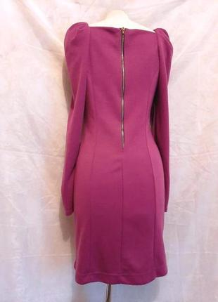 Трикотажное фиолетовое платье с молнией на спине, l.