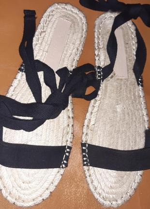 Чорні плетені босоніжки asos р39 еко замша нові