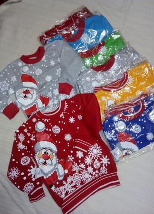 Новогодний реглан свитер на новый год реглан с сантой