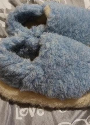Очень мягкие и теплые тапочки из натуральной овчины