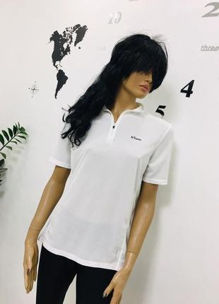 Прекрасная брендовая спортивная футболка поло белая от decathlon creation
