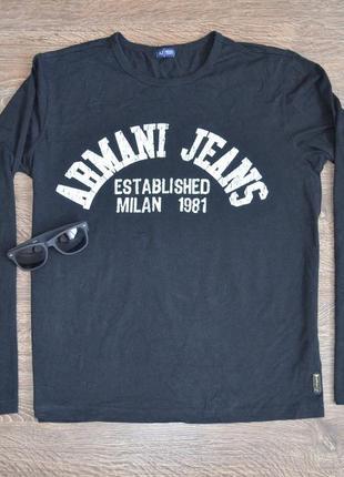 Лонгслив от дорого бренда со свежих коллекций armani jeans ® logo
