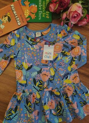 Модная туника,платье на малынку  mini club на 1-1,5 года