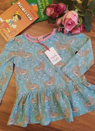 Классная туника платье на малышку mini club на 1,5-2 года
