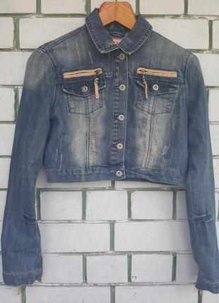 Укороченная джинсовая куртка jennyfer