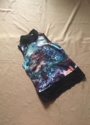 Интересная блузка без рукавов