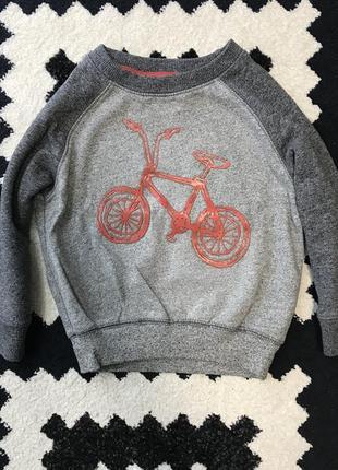 Кофта реглан джемпер с велосипедом бмх