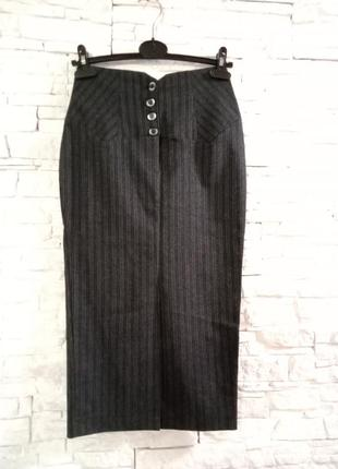 Винтажная длинная юбка карандаш