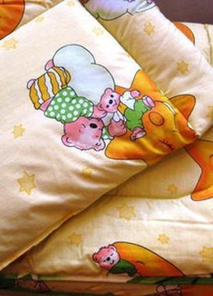Комплект для детской кроватки одеяло и подушка
