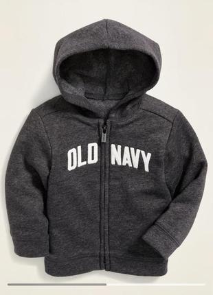 Новая кофта толстовка худи на флисе old navy, 12-18 мес gap