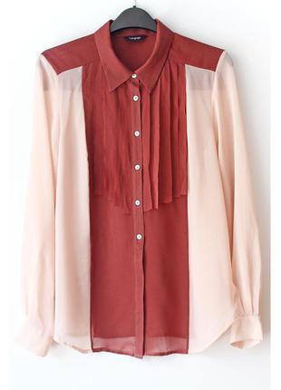 Очень красивая легкая рубашка marks&spencer • l, можно на m-l (примерно на грудь 90-96 см)