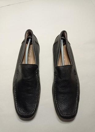 Ecco кожаные мокасины туфли натуральная кожа