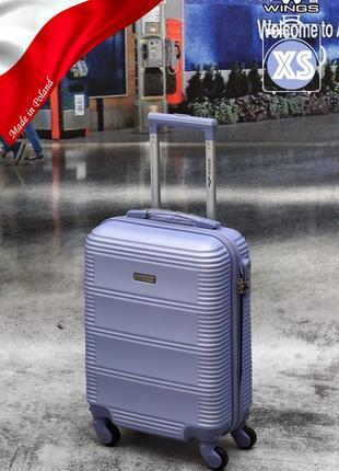 Прочный надежный чемодан wings из поликарбоната+abc