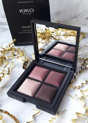 Запечённые тени kiko milano - color fever eyeshadow palette оттенок 101