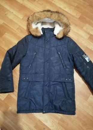 Зимняя куртка на мальчика 11-14 лет