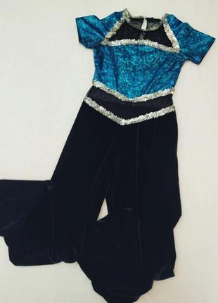 Костюм брючный комбинезон для танцев гимнастки