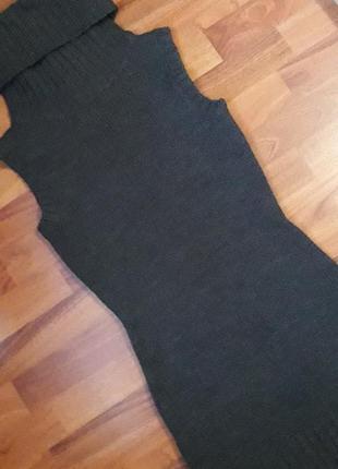 Теплое платье - сарафан