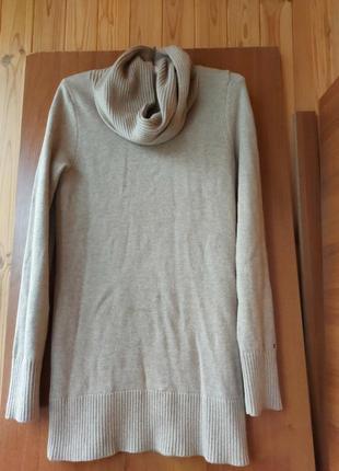 Шерстяной свитер туника платье