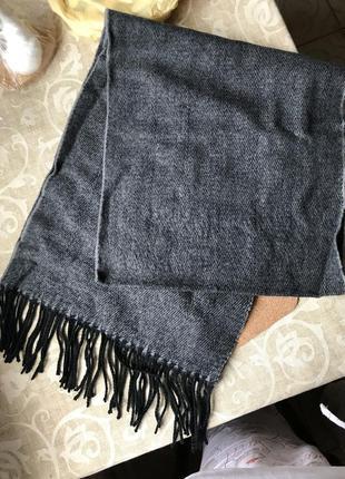 Новый шарф мужской серый