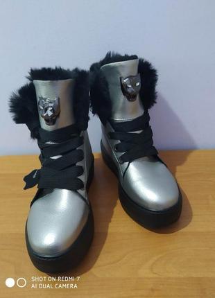 Зимние кожаные ботинки kadis ailun