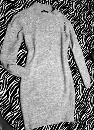 Мягкое платье свитер