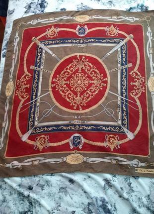 Винтажный шелковый итальянский платок blu di balestra
