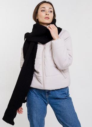 Довгий теплий шарф