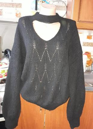 Стильный теплый свитерок f&f!турция! размер 44-46