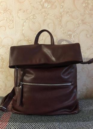 Рюкзак бордовый экокожа