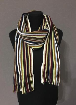 Стильный мужской шарф в полоску