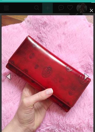 Красный кошелёк cartier