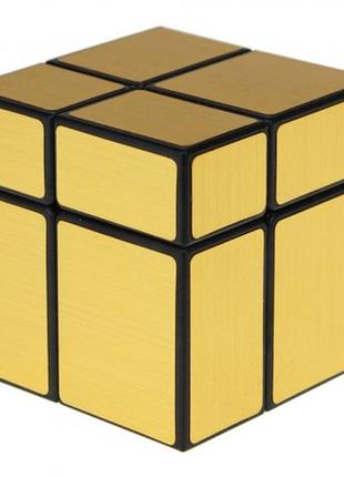 Акция! кубик рубика 2х2х2 зеркальный золотой + подарок
